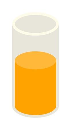orange juice glass: Glass of orange juice fresh drink beverage healthy drink isolated vector illustration. Glass of juice pineapple and multi fruit and citrus sweet juice glass. Citrus juice sweet liquid.