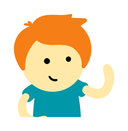 the stands: Cute young boy isolated. Small school boy stands and youth cheerful fun character. Vector character boy stands and lifestyle one beautiful stand adorable teen. Illustration