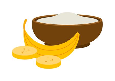 plate of food: Porridge plate in bowl isolated on white background. Porridge breakfast healthy food and plate dinner. Porridge plate vegetarian groats breakfast