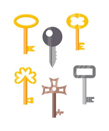 chiave della porta vintage chiave isolato su sfondo bianco ... - Decorativo Della Porta Di Sicurezza