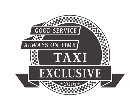private service: Vintage and modern taxi logos taxi label, taxi badge and design elements. Taxi service business sign template, icon, taxi logo corporate identity design element and vector object Illustration