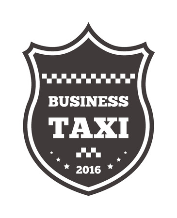 private service: Vintage and modern taxi taxi label, taxi badge and design elements. Taxi service business sign template, icon, taxi corporate identity design element and vector object Illustration