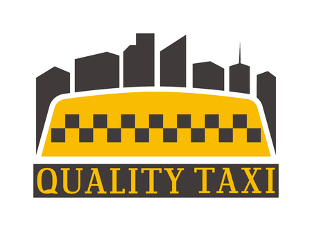 Vintage and modern taxi taxi label, taxi badge and design elements. Taxi service business sign template, icon, taxi corporate identity design element and vector object Illustration