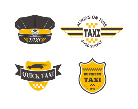 Vintage and modern taxi label taxi badge and design elements taxi service business sign template icon taxi corporate identity design element and vector object flashek Image collections