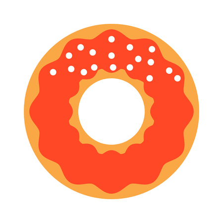 yummy: Cute sweet colorful donut isolated. Chocolate or cream yummy cookie donuts food. Candy decoration color donut cake isolated fast food.