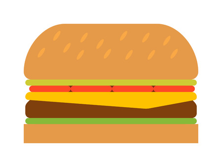 american cuisine: Hamburger fast food tasty grilled american dinner. Hamburger classic cuisine gourmet fast food. Hamburger cheeseburger. Hamburger with meat, lettuce and cheese sandwich fast food