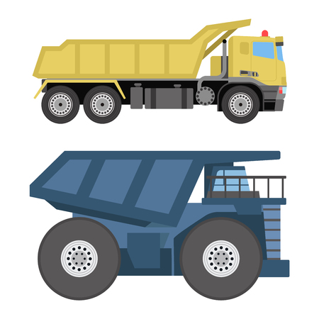tipper: Vector tipper illustration isolated on white background. Vector tipper under construction icon illustration. Vector tipper isolated vector.
