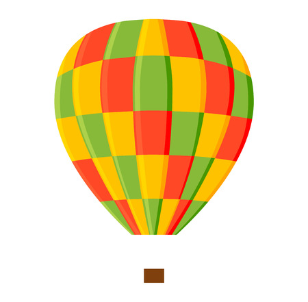 aerostat: Illustration aerostats flat icons cartoon graphic. Modern balloon aerostat transport sky hot fly adventure journey and old vector air ballon travel transportation flight airship.