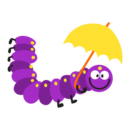 crawling: Cute  crawling caterpillar tree insect element funny little bug. Nature larva caterpillar wildlife bug illustration. Cartoon caterpillars cute character different animal worm.