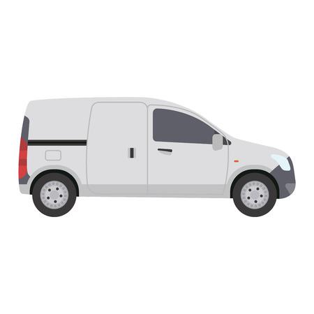 mini van: Car vehicle mini van bus transport type design sign technology style vector. Generic car mini van design flat vector illustration isolated on white. Transport mini bus object