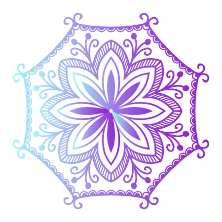 hinduismo: Floral mehendy menor ornamento. ilustración vectorial patrón de mehendy asiático textil india estilo adornado de la tribu. Étnica de encaje modelo ornamental mehendy Mandala de la flor de la vendimia abstracto textil