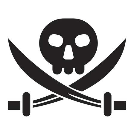 calico: Calico pirate jack sign flag symbol. Traditional texture state territory mark pirate jack sign. Calico education land standard commonwealth diplomacy pirate jack sign jolly roger vector banner.