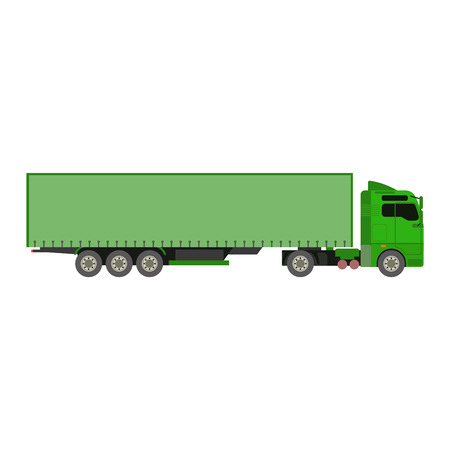 tractor trailer: Cargo truck vector illustration isolated on white background. Cargo truck vector icon illustration. Delivery truck silhouette Illustration
