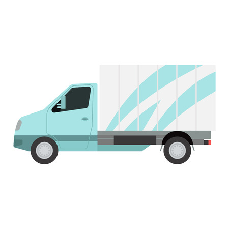 transport of goods: Delivery vector transport truck van. Delivery service van, fast shop service truck. Delivery vehicle. Product goods shipping transport. Fast delivery truck van vector Illustration