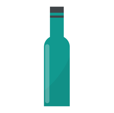 product brand: Bottle of wine drink alcohol beverage winery cabernet design vector illustration. Wine bottle elegance product, red wine bottle and bar drink. Merlot product brand. Illustration