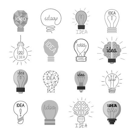 #61528702   Zeichnung Idee Glühbirne Konzept Kreative Gestaltung. Vector  Idea Lampe Innovation Elektrische Kreativität Inspiration Konzept. Helle  Idee Lampe ...