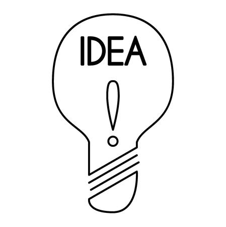 bright idea: Drawing idea light bulb concept creative design. Vector Idea lamp innovation electric creativity inspiration concept. Bright idea lamp icon symbol solution lightbulb. Creative idea concept Illustration