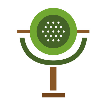 mike: Microphone vector icon isolated on white. Journalist vector microphone, interview, music studio. Web broadcasting microphone, vocal mike tool, tv show microphone.. Mike isolated on white Illustration