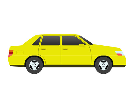 Car sedan vehicle transport type design sign technology style vector. Generic sedan car design flat vector illustration isolated on white. Transport sedan object Illustration
