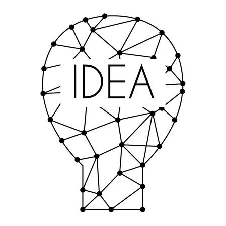 #61777216   Zeichnung Idee Glühbirne Konzept Kreative Gestaltung. Vector  Idea Lampe Innovation Elektrische Kreativität Inspiration Konzept. Helle  Idee Lampe ...