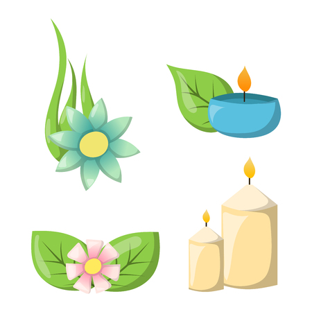 spa still life: Aroma candle isolated. Spa aromatherapy aroma candle and relaxation aroma candle. Beauty flame relax care aroma candle. Decoration health therapy aroma candle treatment bath natural care.