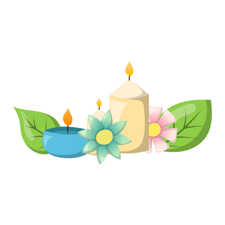 aroma therapy: Aroma candle isolated. Spa aromatherapy aroma candle and relaxation aroma candle. Beauty flame relax care aroma candle. Decoration health therapy aroma candle treatment bath natural care.