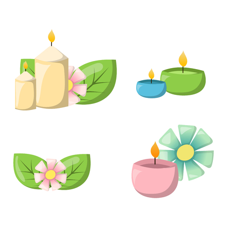 bath treatment: Aroma candle isolated. Spa aromatherapy aroma candle and relaxation aroma candle. Beauty flame relax care aroma candle. Decoration health therapy aroma candle treatment bath natural care.