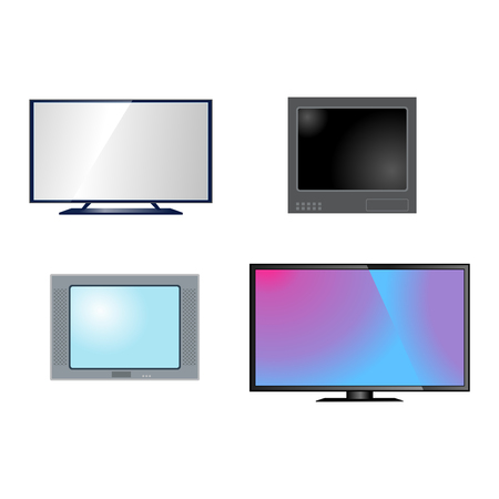 hdtv: TV screen lcd monitor template vector illustration. Electronic device TV screen infographic. Technology digital device TV screen, size diagonal display vector illustration. Screen monitor