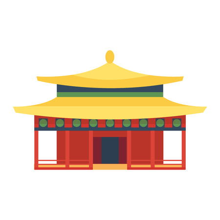 chinatown: Chinese temple asia culture architecture and travel ancient building chinese temple. Chinese famous old structure temple, chinese religion. Beautiful china asia travel landmarks chinese temple vector.