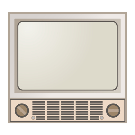 lcd monitor: Retro TV screen lcd monitor template vector illustration. Electronic device TV screen infographic. Technology digital device old TV screen, size diagonal display vector illustration. Screen monitor
