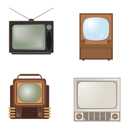 tv screen: Retro TV screen lcd monitor template vector illustration. Electronic device TV screen infographic. Technology digital device old TV screen, size diagonal display vector illustration. Screen monitor