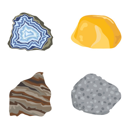 geology: Collection set of semi precious gemstones stones and mineral stone isolated on white background. Colorful shiny gemstone. Mineral stone jewelry material agate mineral stone geology nature crystal.