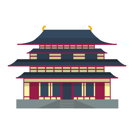 old city: Chinese temple asia culture architecture and travel ancient building chinese temple. Chinese famous old structure temple, chinese religion. Beautiful china asia travel landmarks chinese temple vector.