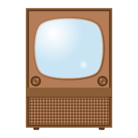 lcd display: Retro TV screen lcd monitor template vector illustration. Electronic device TV screen infographic. Technology digital device old TV screen, size diagonal display vector illustration. Screen monitor