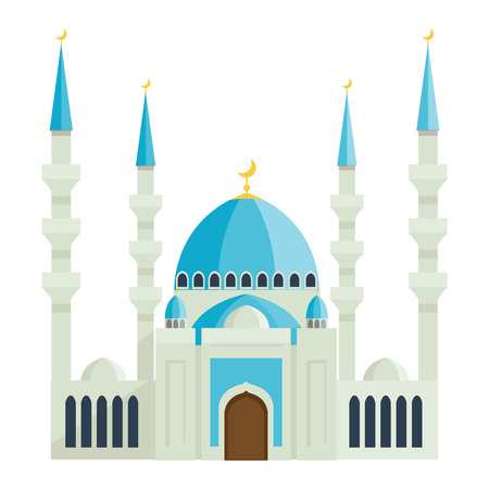 mausoleum: Taj Mahal india agra palace travel architecture temple vector illustration. Taj Mahal architecture tourism monument. Taj Mahal indian religion famous mausoleum.