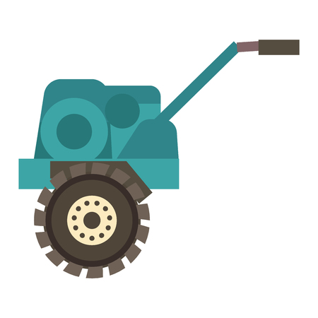 agriculture machinery: Farm plow for deep plowing vintage engraved vector illustration. Industrial agriculture farming field farm plow rural machinery. Vector cultivation plough vehicle machine farm agriculture.