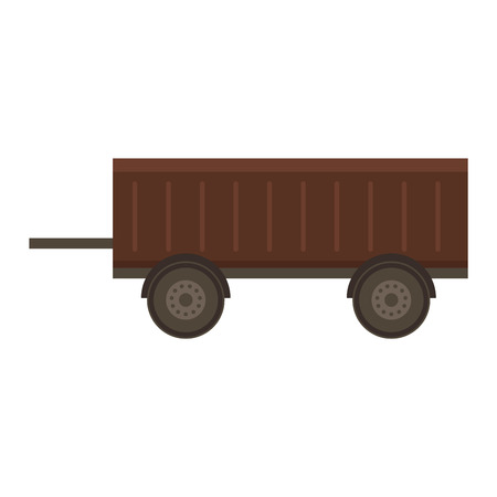 tarpaulin: Vehicle car trailer isolated on white. Transportation car vehicle isolated car trailer vector. Truck cart view equipment wheel car trailer outdoors delivery small steel trailer vector.Vehicle trailer