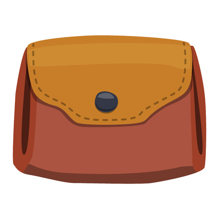 change business: Purse leather wallet with money shopping. Shopping buy change business currency leather purse wallet. Financial one payment bag accessory object purse trendy wallet vector.