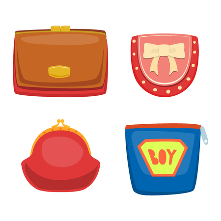 personal banking: Open purse leather wallet with money shopping. Shopping buy change business currency leather open purse wallet. Financial one payment bag accessory object open purse trendy wallet vector.