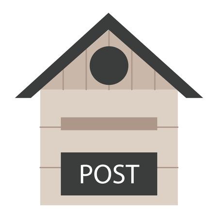 Belle boîtes aux lettres rurales illustration vectorielle. communication traditionnelle boîte postale mail vide d'affranchissement. Lettre correspondance avec le service de boîte de message électronique de poste.