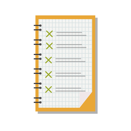 to do list: To do list on white paper notebook document vector. Work design blank organizer to do list business paper. Checklist plan to do list personal message idea writing document. Illustration