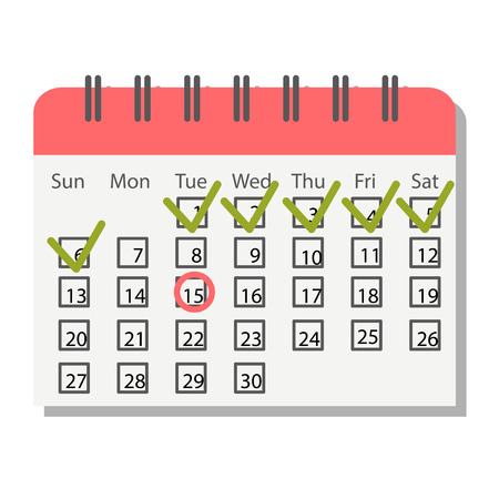 appointment: Calendar icon vector isolated, calendar icon graphic reminder element message symbol. Calendar icon message template shape office calendar icon appointment. Binder schedule calendar icon. Illustration