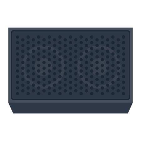 hi fi: Musical columns speaker bass equipment isolated on white background. Vector column speaker loudspeaker loud volume modern musical system. Disco electronics professional technology column speaker.