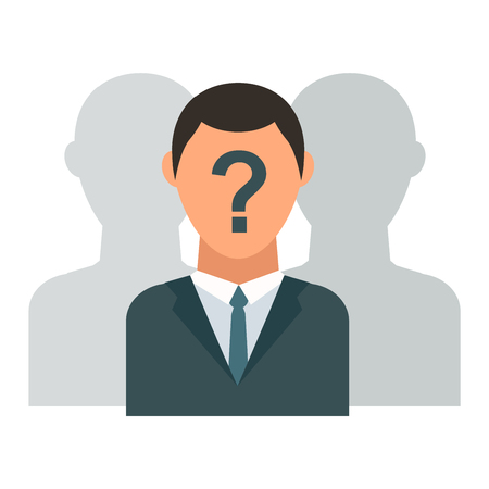 unnamed: Unknown person vector silhouette. Man person silhouette. Unknown person protest looking people black anonymous and portrait face. Unknown person unnamed incognito human avatar face icon