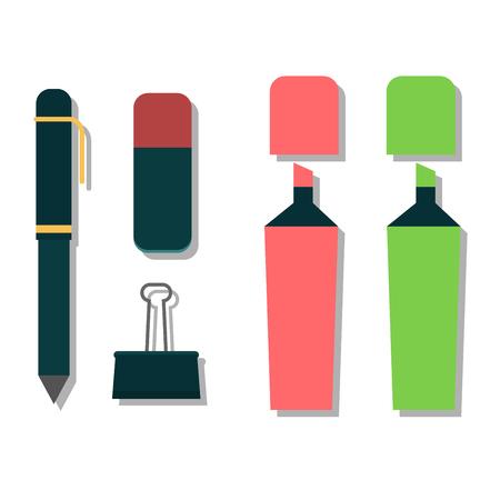 writing instruments: Vector pen illustration isolated on white. Vector pen icon illustration. Vector pen education icon vector. Vector pen silhouette flat style
