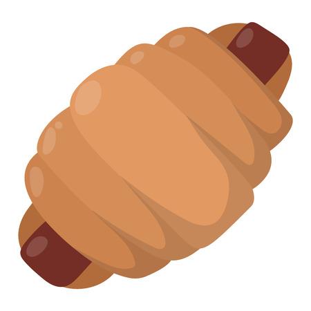 produits céréaliers: Vector illustration de la collecte alimentaire de produits de boulangerie. Petit déjeuner blé repas chocolat dessert boulangerie. Frais grain produit bun produits rouleau de boulangerie épicerie régime de santé collation gourmet céréales. Illustration