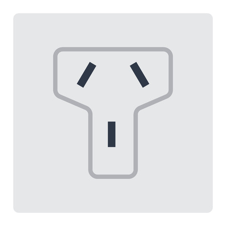 Electric Outlet Illustration On White Background Energy Socket Electrical Plug Appliance Interior Icon