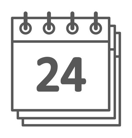 Calendario aislado icono de gráfico vectorial mensaje recordatorio símbolo del elemento. Calendario mensaje icono de plantilla oficina de forma icono de calendario de citas. Carpeta icono del calendario previsto. Ilustración de vector