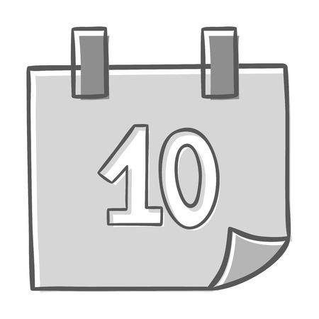 Calendario aislado icono de gráfico vectorial mensaje recordatorio símbolo del elemento. Calendario mensaje icono de plantilla oficina de forma icono de calendario de citas. Carpeta icono del calendario previsto.