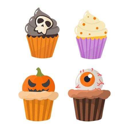 Halloween Kürbis-Kuchen Symbol Vektor Herbst Befürchten Gruselig ...